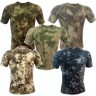 Outdoor Military Tactical Camouflage Short Sleeve Elasticity Tight T-Shirt