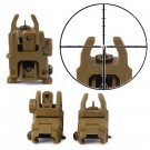 Tactical Flip Up Folding Front & Rear Set Backup Sight Rapid Transition