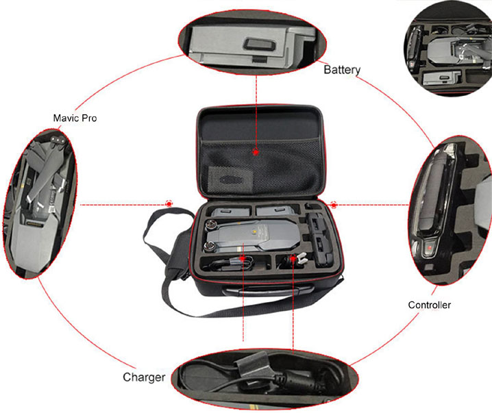 Portable Carry Case Handbag Shoulder Bag Hard Box Pouch For DJI Mavic Pro Drone