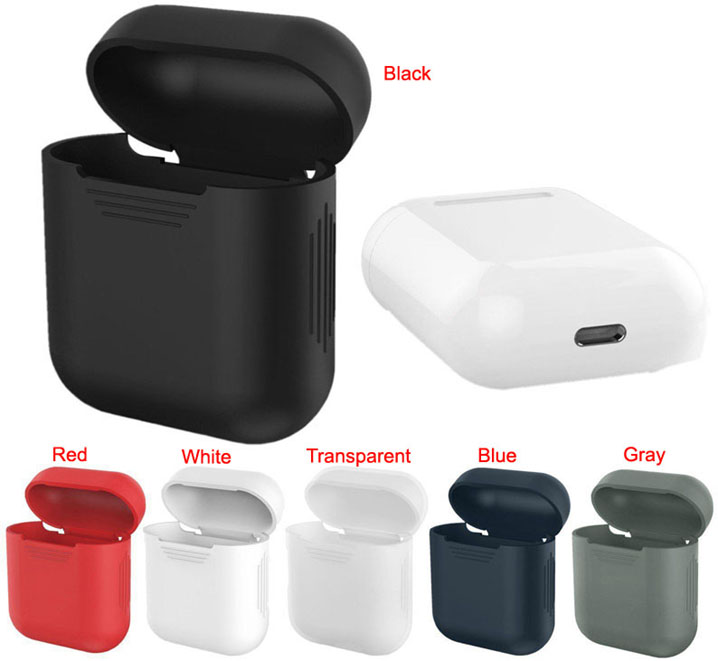 Soft Silicone Cover Case Skin Sleeve Bag For Apple AirPods Earphones Headset