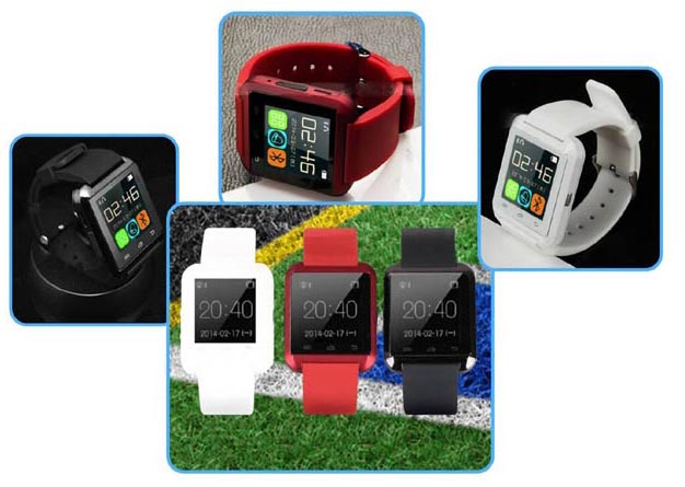 Smart Wrist Watch U8 Plus Bluetooth 4.0 Anti-lost for iPhone 6 5 Android APP