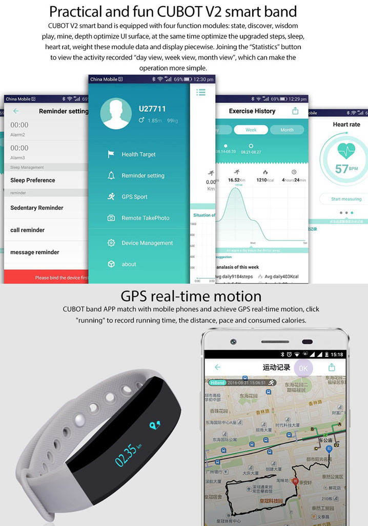 Bluetooth 4.0 Smart Watch Sport GPS Fitness Tracker Anti-lost For iPhone Samsung