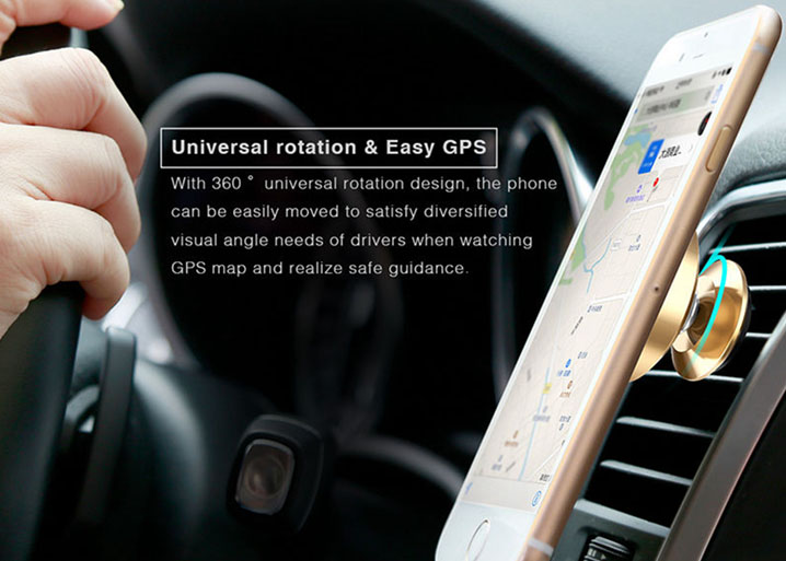 Baseus Magnetic Suction 360 Rotation Car Air Vent Mount Bracket Phone Holder GPS