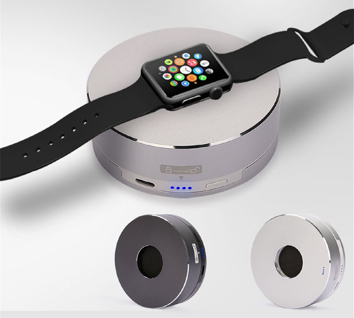 Wireless Charger Station Dock Aluminum Power Holder Stand For Apple Watch iWatch