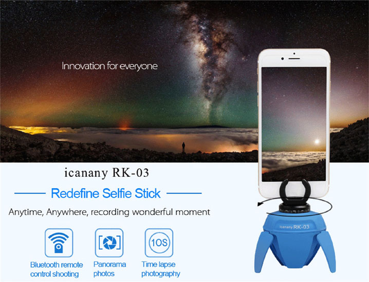 Bluetooth Smart Self-timer Robot 360° Panoramic Mount Holder