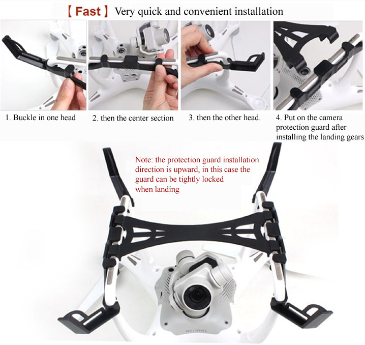 Extended Heightened Landing Gear Camera Gimbal Guard Protector For DJI Phantom 4