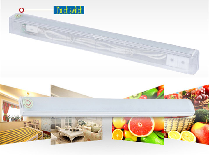 30cm 6W Dimmable 21 LED Touch Sensor Light Kitchen Under Cabinet Bar Tube Lamp