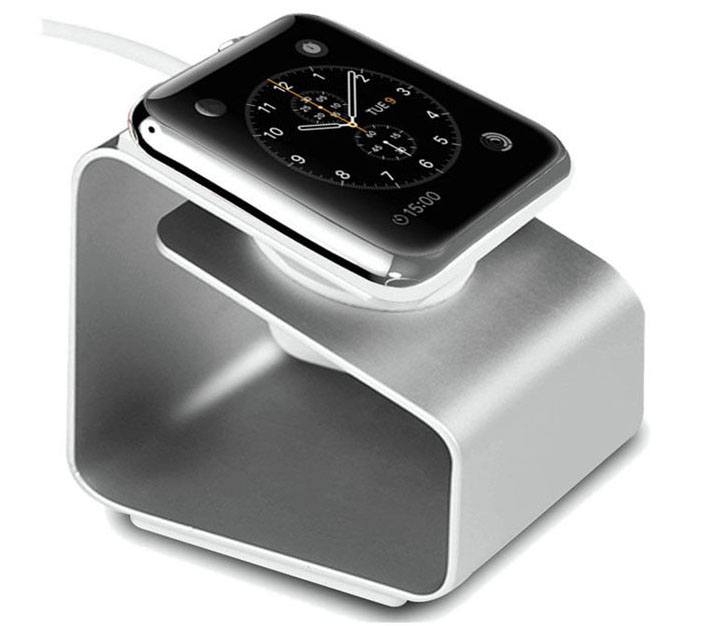 Fashion Metal Aluminium Charger Charging Dock Stand for Apple Watch