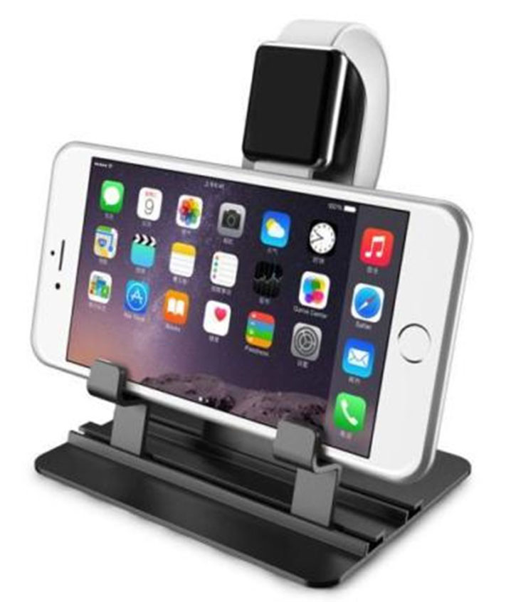 Aluminum Charging Desktop Dock Cradle Charger Station for Apple Watch &iPhone