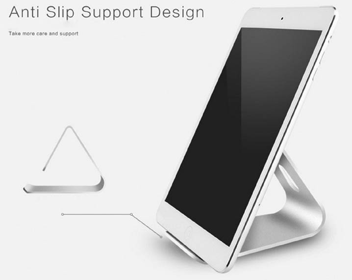 Novelty Triangle Desktop Stand Micro Suction Holder for Ipad & Iphone