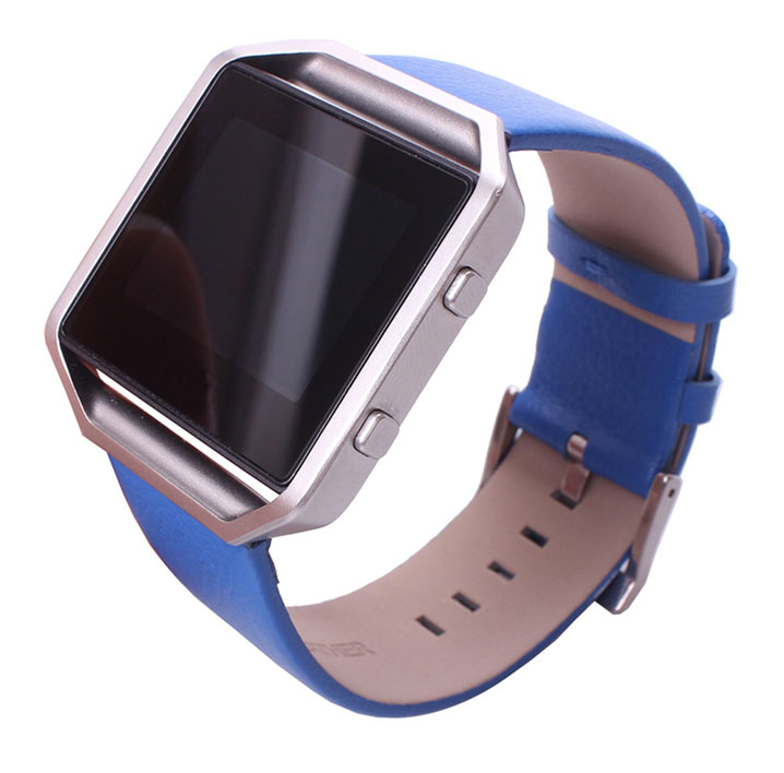 Genuine Leather Watch Band Strap For Fitbit Blaze Quick Release Spring Pins