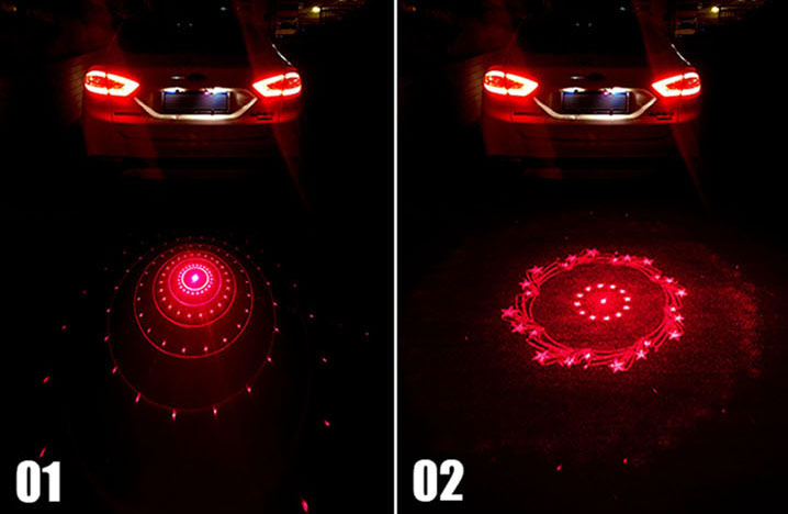 Car Auto Anti-Collision End Rear Tail Fog Driving Laser Safety Caution Light
