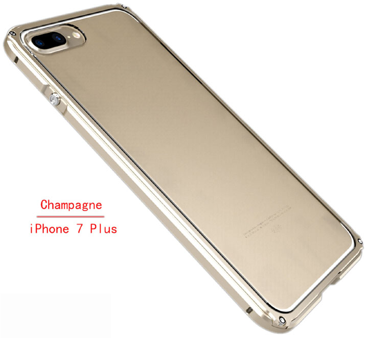Aluminum Metal Bumper + Clear Back Cover Case For iPhone 7
