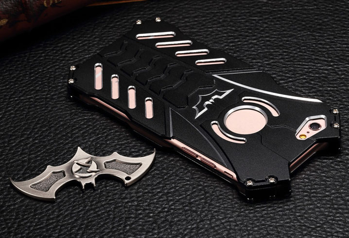 Fashion Shockproof Bumper Batman Stand Hard Metal Case Cover For iPhone 7&7 Plus