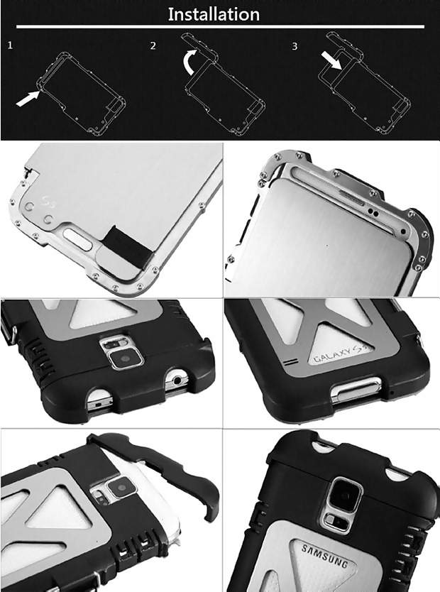 Armor Luxury Metal Case Cover For Samsung Galaxy S5 I9600
