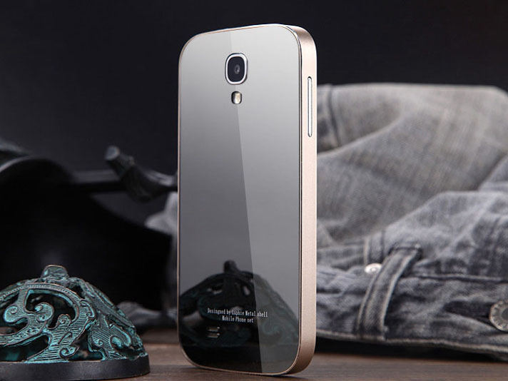Deluxe Aluminum Metal Frame + Mirror PC Back Case Cover for Samsung Galaxy phones