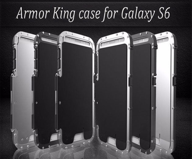Shock Armor Metal Case Full Cover For Samsung Galaxy S6 Edge