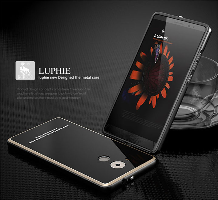 Ultra-thin Luphie Aluminum BumperTempered Glass Case For HUAWEI Ascend Mate 8