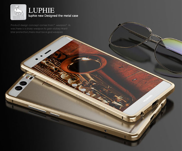 Luphie Aluminum Metal Bumper Frame Cover Case For Huawei Ascend P9/P9 Plus