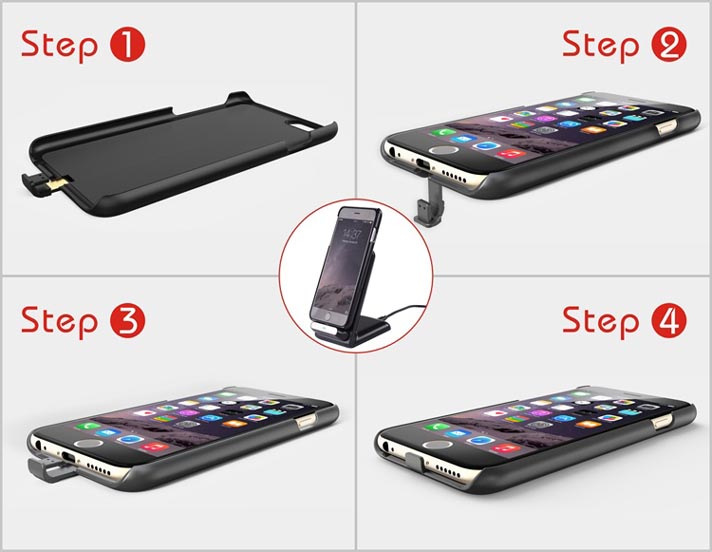 Qi Wireless Charging Receiver Case Cover For Apple iPhone 6 6 Plus