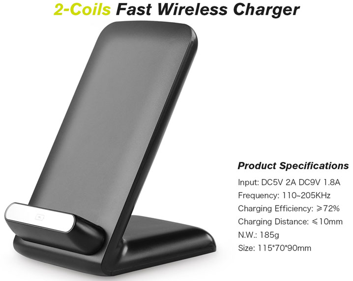 Qi Wireless 10W Fast Charger Stand Dock Charging Pad For Samsung iPhone 7 7 Plus