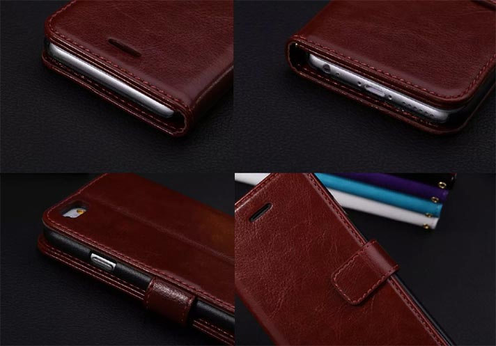 Leather Wallet Flip Case Cover for iPhone 6