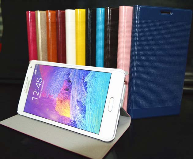 Leather Stand Case Cover For Samsung Galaxy Note 4