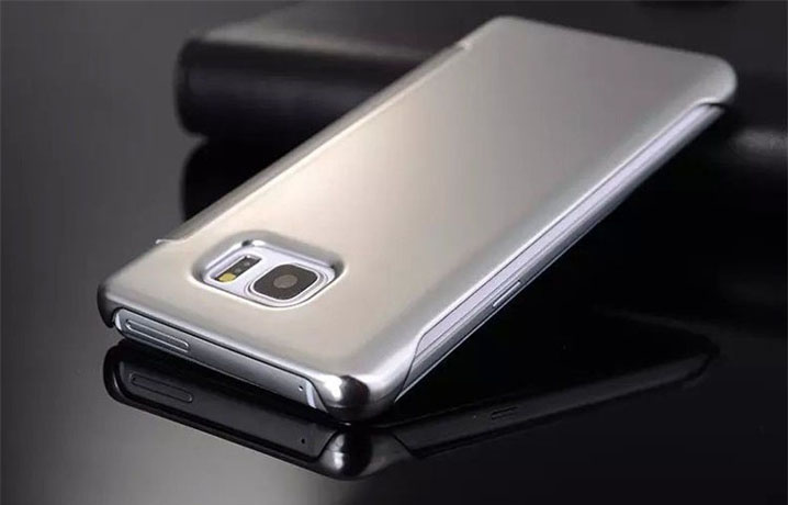 Luxury Mirror Flip Leather Case Cover for Samsung Galaxy S6 Edge Plus Note