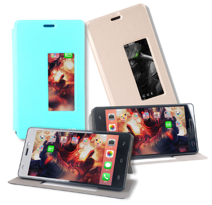 PU Leather Case for Elephone P9000 Lite/P9000 Protective Stand View Flip Cover