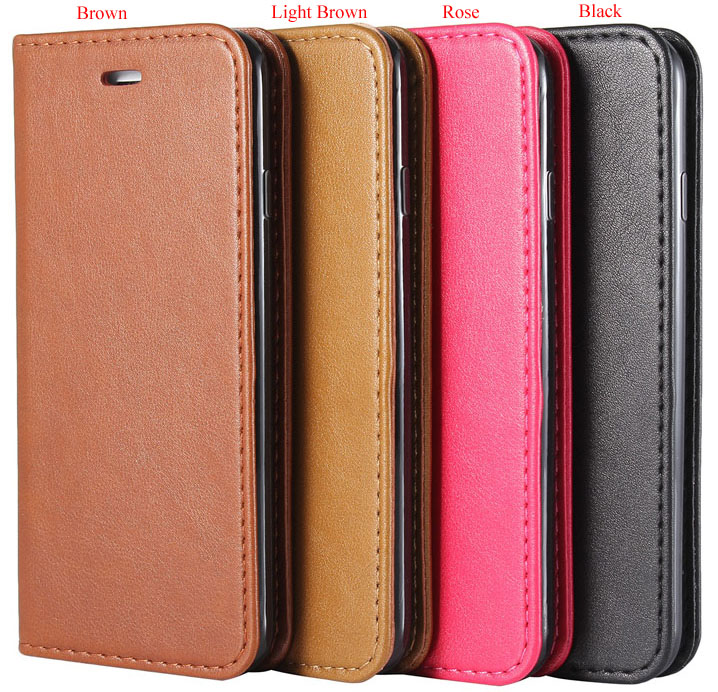 PU Leather Magnetic Flip Wallet Card Slot Case Cover Stand For iphone 7 & 7 plus
