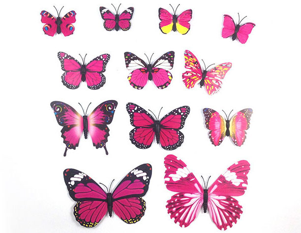 3D Butterfly Decals Stickers Wall Home Decor Art Design Decoration Room