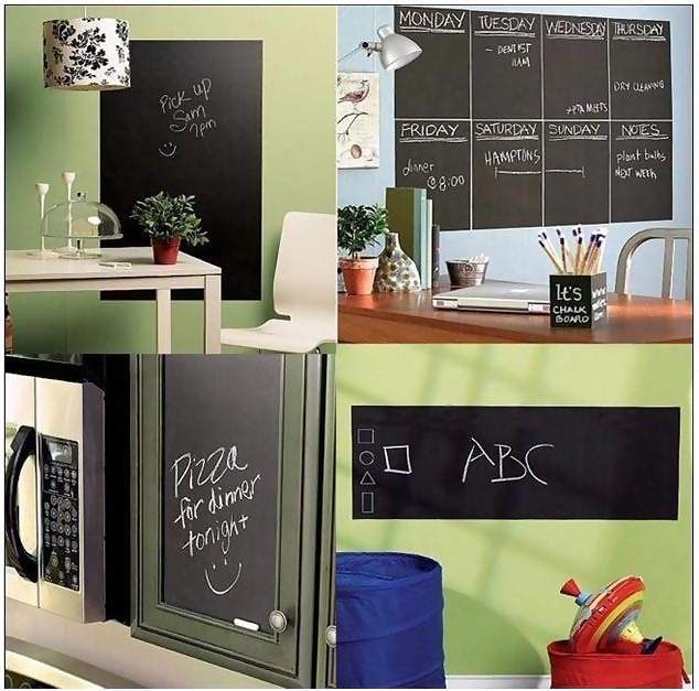 Removable Blackboard Decal Chalkboard Vinyl Wall Sticker