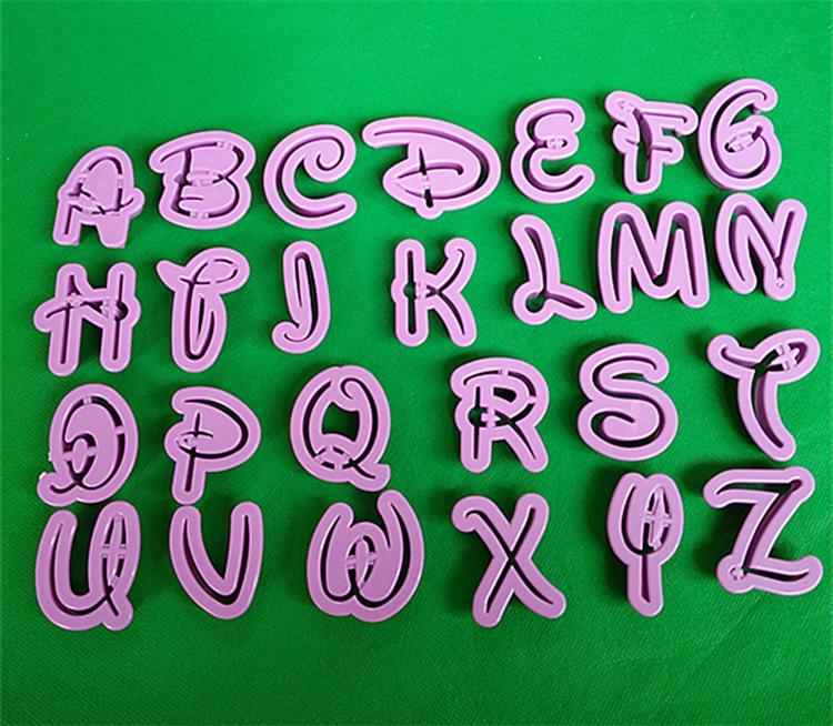 26 Letters Alphabet 0-9 Numbers Cake Cookies Cutters Shaper Fondant Mold