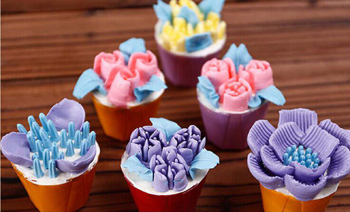 Russian Tulip Rose Icing Nozzles Cake Baking Decoration Tips Steel Tools