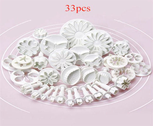Sugarcraft Cake Decorating Fondant Icing Plunger Cutters Tools Mold