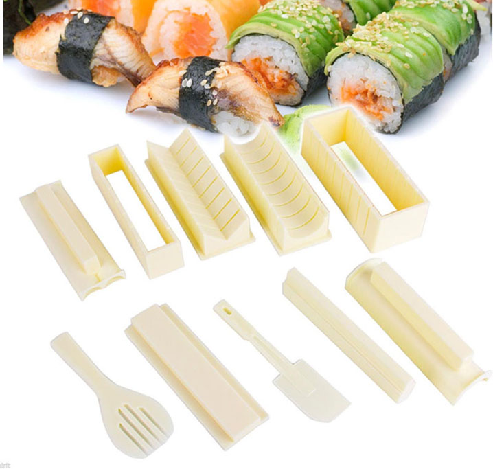 Sushi Master Sushi Maker Rice Mold making set with Recipe DIY Tools