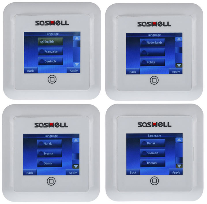 Multi Language Color Full Touch Screen programmable intelligent underfloor Heating Thermostat