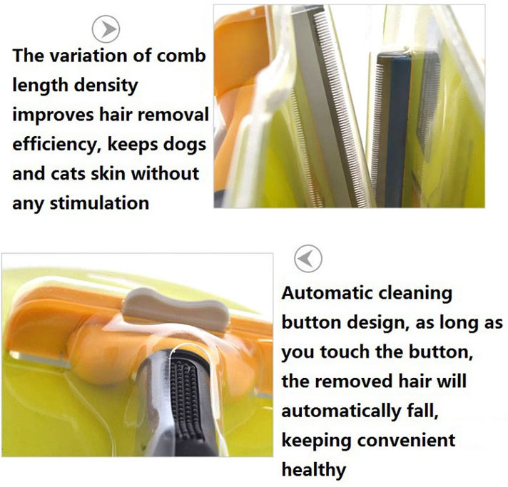 Hair Deshedding Tool Brush for Giant Large Medium Small Dogs/Cats