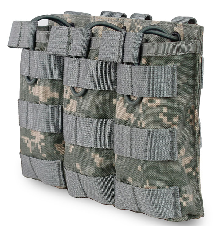 MOLLE M4/M16 Tactical Fast Triple Stacker 5.56 Magazine Mag Pouch Holster Straps